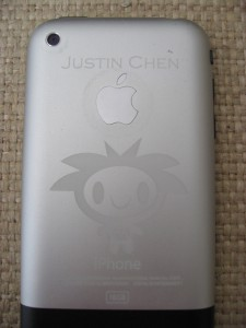 etched iphone