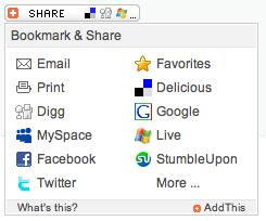 sharethis widget